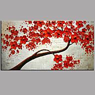 Pintados à mão Floral/Botânico Moderno/Contemporâneo 1 Painel Tela Pintura a Óleo For Decoração para casa