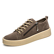 Men's Sneakers Comfort Synthetic Microfiber PU Fall Winter Casual Office & Career Party & Evening Walking Comfort Zipper Lace-up Flat Heel