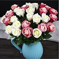 10 Pièces 10 Une succursale Soie Roses Fleur de Table Fleurs artificielles