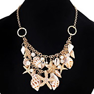Choker Necklaces Chain Necklaces Statement Necklaces Women's Girls'Pearl Jewelry Cowry Alloy Party Beach Movie Statement Jewelry