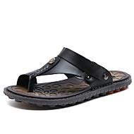 Pánské Sandály Pohodlné Guma Léto Pohodlné Plochá podrážka Černá Hnědá Modrá Méně než 2.5 cm