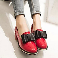 Dames Loafers & Slip-Ons Comfortabel PU Zomer Causaal Comfortabel Wit Rood Plat