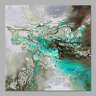 IARTS® Hand Painted Abstract Oil Painting The Modern Turquoise & Grey Colored Picture with Stretched Frame Handmade Oil Painting For Home Decoration R