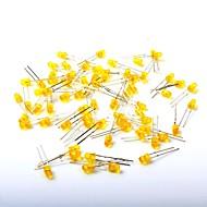 led発光ダイオード3mm黄色の光(1000pcs)