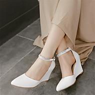 Femme Chaussures Polyuréthane Printemps Confort Sandales Gros Talon Talon Compensé Talon Aiguille Avec Pour Décontracté Blanc Violet Chair