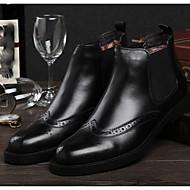 Férfi Csizmák Kényelmes Bőr Tél Hétköznapi Kényelmes Vastag Fekete Barna 1 inch-1 3 / 4 inch