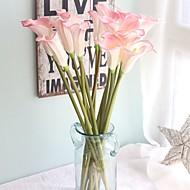 5 Peças 5 Ramo Seda Poliéster Lírios Flor de Mesa Flores artificiais