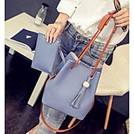 Women Bags All Seasons PU Polyester Tote with for Casual Outdoor Blushing Pink Gray Light Blue