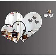 Mirror love peach diy wall stickers