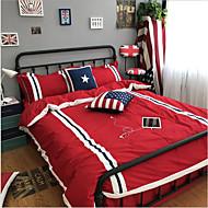 Flaggen 4 Stück Baumwolle Kleidung Maschinell gefertigt Baumwolle Kleidung 1 Stk. Bettdeckenbezug 1 Stk. Betttuch