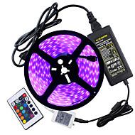 72W ערכות תאורה 6950-7150 lm AC100-240 V 5 מ ' 300 נוריות RGB