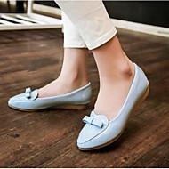 Dame Flate sko Komfort Lakklær Sommer Avslappet Hvit Blå Rosa Flat