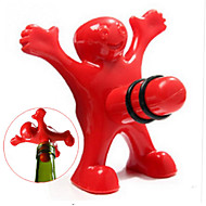 Unique funny happy red man guy bouteille bouteille bouteille en plastique bouteille / outils maison plug perky creative gifts - 1pcs