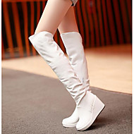 Women's Boots Comfort Nubuck leather PU Fall Winter Casual Comfort Beige Black White 5in & over