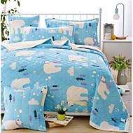Coral fleece Animal Polyester/Cotton Blend Blankets