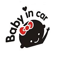 Auto dekorative Aufkleber für Baby im Auto (schwarz weiß)