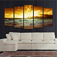 5 paneeli Horizontal Painettu Wall Decor For Kodinsisustus