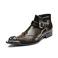 Men's Boots Amir's Fashion Boots Cowhide Leather Casual Party & Evening Buckle Metallic toe