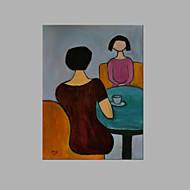 Håndmalte Mennesker Lodrett,Kunstnerisk Et Panel Lerret Hang malte oljemaleri For Hjem Dekor