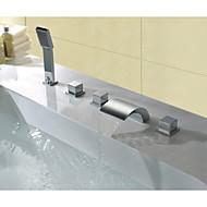 עכשווי חורים צדדיים מפל מים with  שסתום פליז שלוש ידיות חמישה חורים for  כרום , ברז לאמבטיה