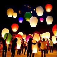 10pcs / set צבע רב באיכות גבוהה סינית פנס אש השמים טוס נרות מנורה עבור יום הולדת חתונה צד פנס רוצה מנורה פנסים שמים