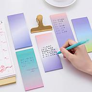 1 pc gradiente cor auto-stick notas 40 páginas (cor aleatória)