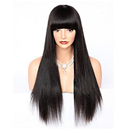 Žene Perike s ljudskom kosom Remy Lace Front Perika s prednjom čipkom bez ljepila 130% 150% 180% Gustoća Ravna Yaki Perika Boja gagata