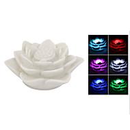 lotusblomst lampe ledet farge skiftende nattlys
