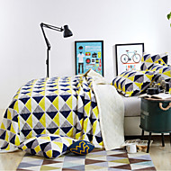 Super Soft Plaid/Checkered Polyester/Cotton Blend Blankets