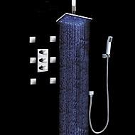 Moderne Luxus LED Wandmontage Spray Regendusche Handdusche inklusive Gute Qualität with  Messingventil Chrom , Duscharmaturen