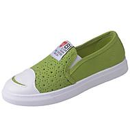 Damen Loafers & Slip-Ons Komfort Leinwand Sommer Normal Walking Flacher Absatz Weiß Schwarz Gelb Grün 5 - 7 cm