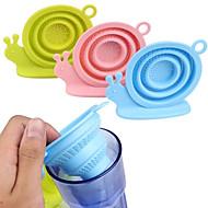 Tipo de caracol dobrável, infusor de chá, silicone, solto, folha de chá, filtro, filtro, filtro, ervas, especiaria, aleatório, cor