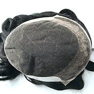 7x9 ελβετική δαντέλα άνδρες toupee άνδρες συστήματα τρίχας αντικατάστασης φυσικό κυματιστό mens κομμωτήριο