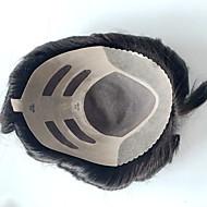 szlifowane mono męskie torebki ludzkie systemy wymiany włosów dla mężczyzn naturalny kolor 8x10