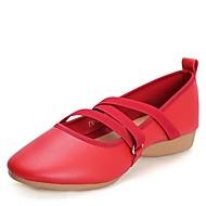 """נשים מודרני עור נעלי ספורט חיצוני עקב נמוך לבן שחור אדום מתחת ל2.5 ס""""מ"""
