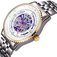 Men's Women's Sport Watch Skeleton Watch Mechanical Watch Japanese Automatic self-winding Calendar Chronograph Water Resistant / Water