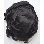 6x9 ελκυστική δαντέλα toupee για άντρες φυσικό χρώμα κομμάτι συστήματος μαλλιών