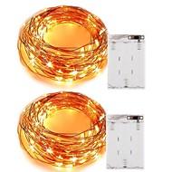4W W חוטי תאורה 400 lm סוללה 5 מ ' 50 נוריות