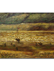 Hand-painted Oil Painting Beach at Scheveningen in Stormy Weather by Van Gogh with Stretched Frame