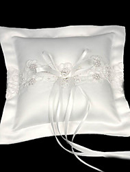 Gathered Elegance Satin Wedding Ring Bearer Pillow