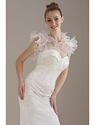 Short Sleeves Organza  Lace  Bridal Jacket / Wedding Wrap (WSM0398)