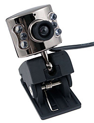 1.3 megapixel webcam usb (prata)