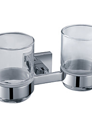 Bathroom Accessories Solid Brass Double Tumbler Holder (0640-3204)