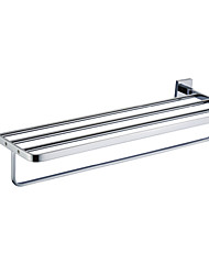 "YALI.M®,Barre porte-serviette Chrome Fixation Murale 210 x 618 x 110mm (8.26 x 24.3 x 4.33"") Laiton Contemporain"