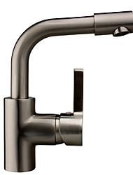 Contemporary Solid Brass Kitchen Faucet - Nickel Brushed Finish