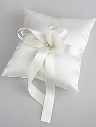 Hochzeit Ringkissen aus weißem Satin mit Perlen