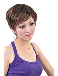 Capless Short Synthetic Coffee Straight Hair Wig