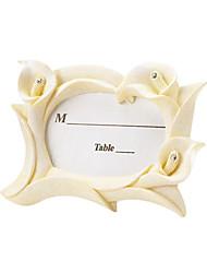 Tischkarten und Halter Elfenbein Harz Calla-Lilien-Frames