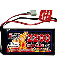 2200mAh 11.1v 30C emax 3S Li-polymère batterie avec connecteur T (ex0025)