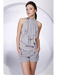 Chiffon Halter Cocktail Wrap